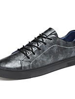 cheap -Men's Shoes Cowhide Leather Spring Fall Driving Shoes Comfort Sneakers for Casual Office & Career Black Gray