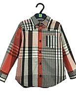 cheap -Boys' Striped Shirt,Cotton Spring Fall Long Sleeve Simple Rainbow
