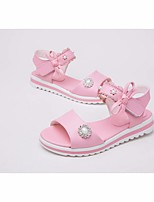 cheap -Girls' Shoes Leather Spring Summer Comfort Sandals for Casual White Pink