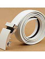 cheap -Men's Genuine Leather Waist Belt,White Black Work Modern Style