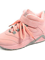 cheap -Women's Shoes Suede Spring Fall Comfort Sneakers Low Heel for Casual Black Gray Pink