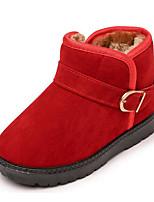 Недорогие -Девочки Мальчики обувь Нубук Зима Осень Зимние сапоги Удобная обувь Ботинки для Повседневные Черный Лиловый Кофейный Красный Хаки