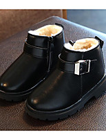 cheap -Boys' Shoes Leatherette Spring Fall Comfort Snow Boots Boots Booties/Ankle Boots for Casual Wine Brown Black