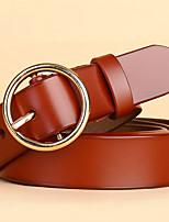 Недорогие -Универсальные На каждый день Пояс на талию Настоящая кожа Красный Верблюжий Пурпурный Светло-коричневый Хаки