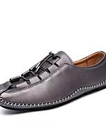 Недорогие -Муж. обувь Наппа Leather Кожа Весна Осень Удобная обувь Мокасины и Свитер для Повседневные Черный Серебряный Коричневый Красный