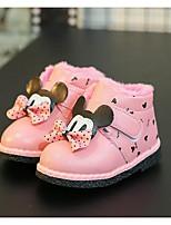 Недорогие -Дети обувь Полиуретан Весна Осень Удобная обувь Обувь для малышей Ботильоны Ботинки для Повседневные Красный Розовый