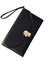 cheap -Women Bags PU Clutch Buttons Zipper for Casual All Season Gray Blushing Pink Black