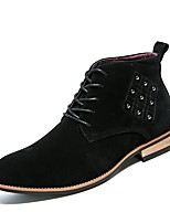 cheap -Shoes PU Suede Leather Nubuck leather Winter Fall Light Soles Fashion Boots Comfort Boots Booties/Ankle Boots for Casual Black Brown