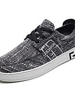 Недорогие -Муж. обувь Полиуретан Осень Удобная обувь Кеды для Повседневные Черный Бежевый Синий