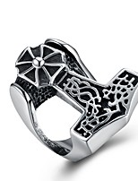 cheap -Men's Statement Rings , Vintage European Rock Stainless Steel Geometric Jewelry Graduation Night out&Special occasion
