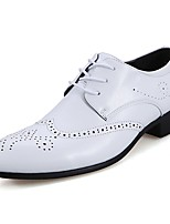 cheap -Men's Shoes Nappa Leather Spring Fall Comfort Oxfords for Outdoor Brown Black White