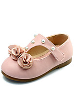 cheap -Girls' Shoes PU Spring Fall Comfort Flower Girl Shoes Flats for Casual Pink Beige