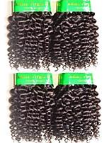Недорогие -10a mongolian kinky кудрявые виргинские волосы 4pundles 400g lot remy наращивание человеческих волос ткет естественный черный цвет