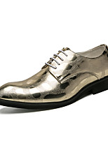 cheap -Men's Shoes Leatherette Spring Summer Formal Shoes Oxfords for Wedding Party & Evening Gold Black