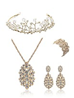 cheap -Women's Bridal Jewelry Sets Wreaths Rhinestone Fashion European Wedding Party Imitation Pearl Imitation Diamond Alloy Flower Body Jewelry