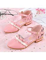 cheap -Girls' Shoes Synthetic Microfiber PU Spring Fall Comfort Tiny Heels for Teens Heels for Casual Pink Gray