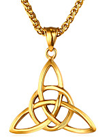 cheap -Men's Geometric Casual Ethnic Pendant Necklace , Stainless Steel Pendant Necklace , Gift Daily