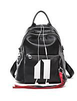 cheap -Women's Bags Cowhide Backpack Zipper for Casual All Seasons Black