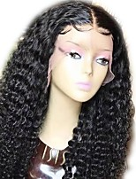 cheap -Luffy Unprocessed Indian Human Hair Curly Full Lace Wig 12-22 Inch Curly Wig with Baby Hair Bleached Knots for Black Women