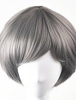 cheap -Synthetic Hair Wigs Straight Bob Haircut Natural Wigs Short Grey