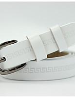 cheap -Women's Casual Leather Alloy Waist Belt