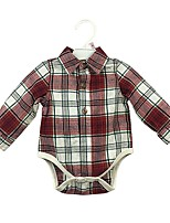 cheap -Baby Boys' Casual/Daily Solid One-Pieces, Cotton Spring Fall Cute Active Long Sleeves Red