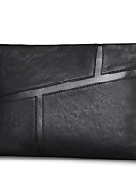 cheap -Men Bags Cowhide Clutch Zipper for Casual All Season Black