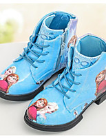 cheap -Girls' Shoes Patent Leather Winter Fall Comfort Snow Boots Boots Mid-Calf Boots for Casual Pink Blue White