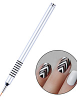 cheap -Silver Handle Liner Nail Brush Drawing Painting Tools 7mm Flower Pen Brush Manicure Nail Art Tool