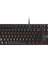 cheap -DK100 Wired Monochromatic Backlit Red Switches Black Switches Brown Switches Blue Switches 87 Mechanical Keyboard Spill-Resistant