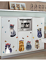 abordables -Animales 3D Pegatinas de pared Calcomanías 3D para Pared Calcomanías Decorativas de Pared,Papel Decoración hogareña Vinilos decorativos