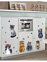 Недорогие -Животные 3D Наклейки 3D наклейки Декоративные наклейки на стены, Бумага Украшение дома Наклейка на стену Стена Окно