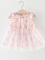 cheap -Baby Girl's Daily Striped Dress, Cotton Cute Sleeveless Blue Blushing Pink
