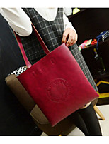 cheap -Women's Bags PU Shoulder Bag Zipper for Casual All Seasons Wine Brown Coffee Black Green