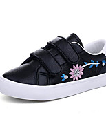 cheap -Girls' Shoes Synthetic Microfiber PU Spring Fall Comfort Sneakers for Casual Black White