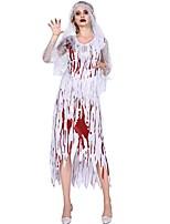Недорогие -Невеста Косплэй Kостюмы Жен. Хэллоуин Фестиваль / праздник Костюмы на Хэллоуин Белый Halloween