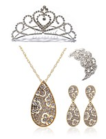 cheap -Women's Tiaras Bridal Jewelry Sets Rhinestone Imitation Diamond Alloy Geometric Drop Fashion European Wedding Party Body Jewelry 1