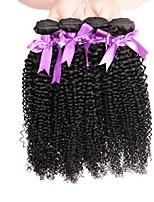Недорогие -Бразильские волосы Kinky Curly Ткет человеческих волос Человека ткет Волосы Жен. Повседневные