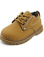 cheap -Boys' Shoes Leatherette Spring Fall Comfort Oxfords Lace-up for Casual Outdoor Brown Yellow Black