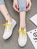 cheap -Women's Shoes Tulle Summer Fall Comfort Sneakers Flat Closed Toe for Casual Outdoor Pink Yellow