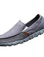 Недорогие -Муж. обувь Полотно Весна Осень Удобная обувь Мокасины и Свитер для Повседневные Темно-синий Серый Хаки Вино