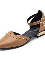 baratos -Mulheres Sapatos Borracha Primavera Outono Conforto Rasos Sem Salto para Ao ar livre Preto Marron