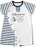 cheap -Baby Striped One-Pieces,Cotton Spring Blue