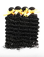 Недорогие -Бразильские волосы Крупные кудри Ткет человеческих волос 4 предмета 0.2