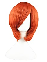 cheap -14inch Short Orange Angel BeAts Otonashi Yuzuru Synthetic Anime Cosplay Wig CS-002C