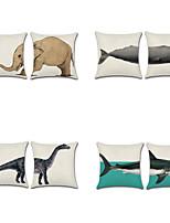 cheap -8 pcs Cotton/Linen Pillow Cover,Animal Print Bohemian Style Retro