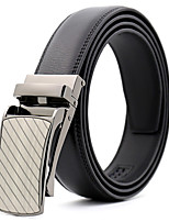cheap -Men's Leather Alloy Waist Belt,Black Party Work Casual Striped Solid Metal Pure Color