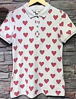 cheap -Women's Daily Casual T-shirt Shirt Collar Long Sleeve Cotton Others