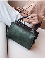 cheap -Women Bags PU Tote Buttons Zipper for Casual All Season Gray Blushing Pink Red Black Green