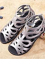 Недорогие -Девочки обувь Полиуретан Весна Лето Удобная обувь Сандалии для Повседневные Серебряный
